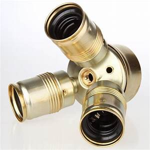 E27 Fassung Metall : e27 metall dreifach fassung vermessingt m10x1 ig 250v 4a 18 95 ~ Orissabook.com Haus und Dekorationen