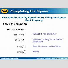 Solve Equation Square Root Property Calculator Tessshebaylo