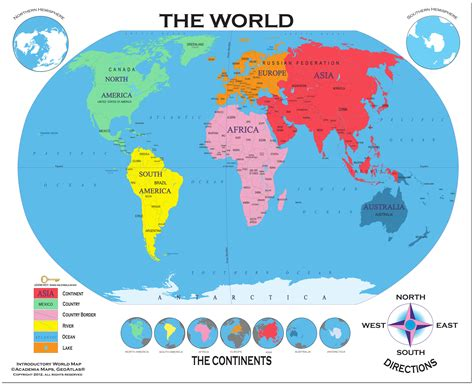 A Map Of The World With Labels  Euro Info