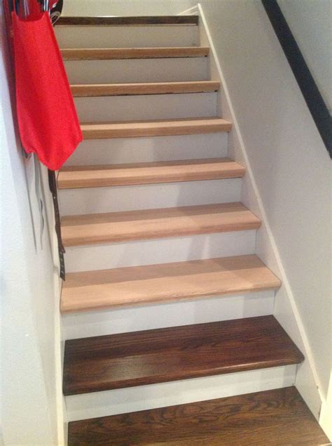 hometalk  carpet  wood stairs redo cheater