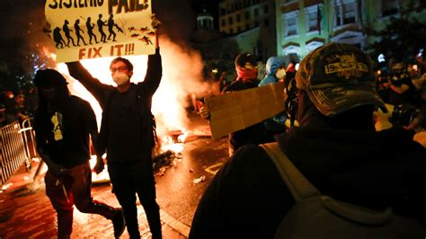 protests peaceful unrest night san diego fox