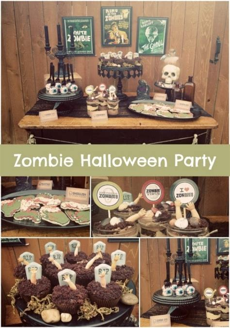 Vintage Zombie Themed Halloween Party!  Spaceships And