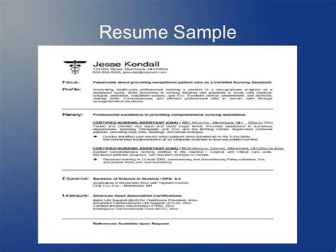 how to write a resume for cna