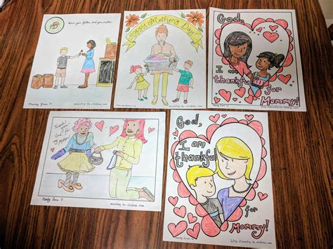 mothers day coloring pages   easy print