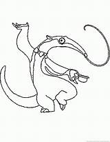Anteater Animal Coloring sketch template