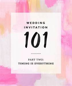 Wedding invitation 101 part 2 timing is everything aka for Wedding invitations timing send
