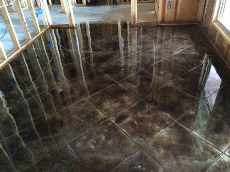 Dark Acid Staining Concrete ? Home Ideas Collection : What