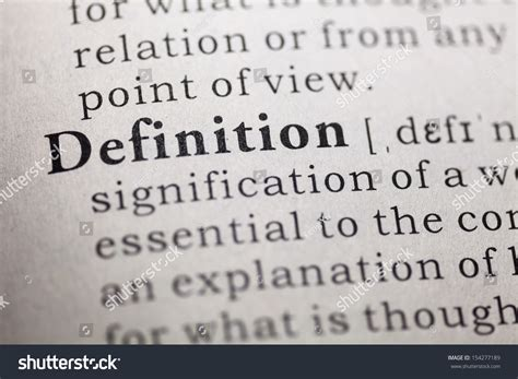 Dictionary Definition Word Definition Stock Photo