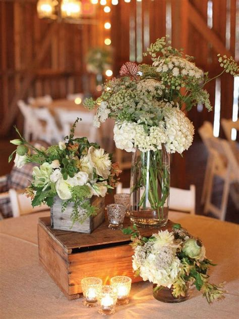 flower table decorations for weddings rustic wedding table setting with wooden boxes and flower