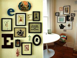 30 amazing picture frame clusters for Interior design wall of frames