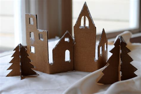 diy craft  adorable christmas village  recycled