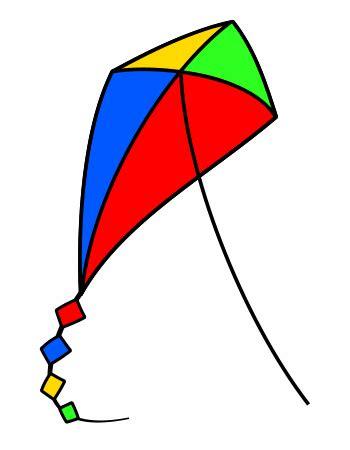 drawing  cartoon kite