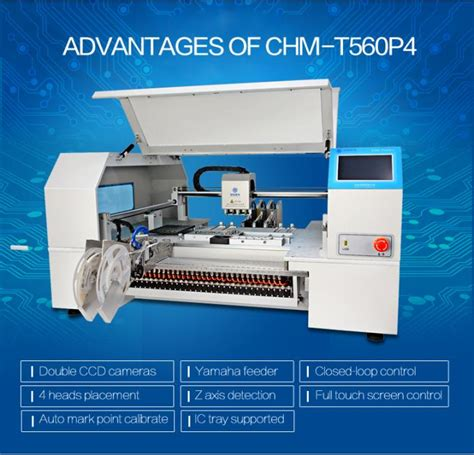 advanced chmt560p4 benchtop and place machine 60 feeders 4 heads