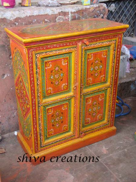 traditional hand painted cabinet  jodhpur indian