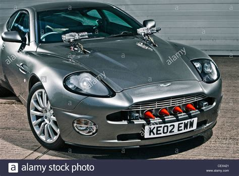 Stationary Aston Martin Db5, James Bond Classic Car Stock