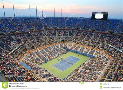 Arthur Ashe Stadium During Us Open 2019 Night Match At
