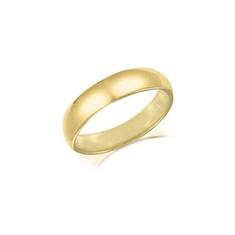 14k solid yellow gold regular fit plain wedding band ring 4mm size 5 13 polished ebay