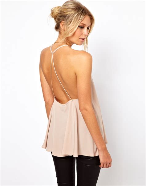 backless blouse summer wind asos backless top