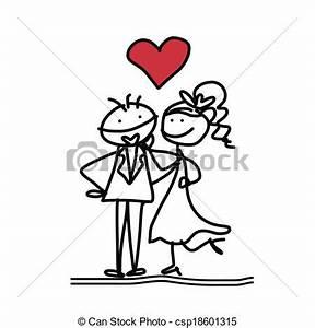 Dessin Couple Mariage Noir Et Blanc : clip art vecteur de main dessin dessin anim bonheur ~ Melissatoandfro.com Idées de Décoration