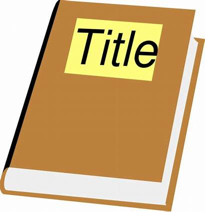 Title Clipart Titles Clip Story Cliparts Books