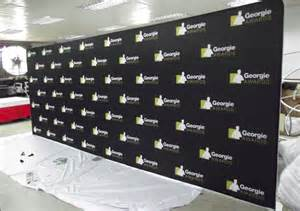 Red Carpet Backdrop With Logos step and repeat backdrop and media logo walls