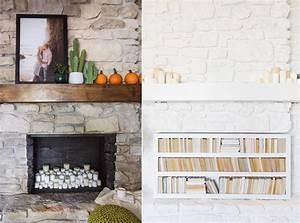 Painting, My, Stone, Fireplace, White, Finally