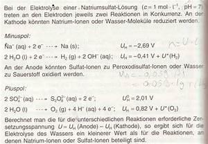 Elektrodenpotential Berechnen : kann man kupfersulfat aus kupferelektrolyse in nahso4 l sung herstellen chemie elektrolyse ~ Themetempest.com Abrechnung
