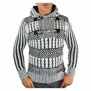 Gros Pull Laine Homme : pull homme en laine capuche noir ~ Louise-bijoux.com Idées de Décoration