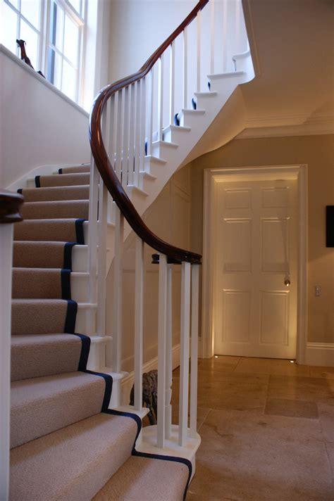 bespoke handrails haldane timber handrails  stairs