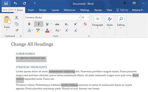 Format Word by How To Select All Text With Similar Formatting In