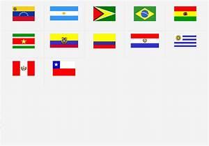 América del Sur: Banderas Juego de Mapas