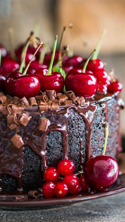 wallpaper cake receipt chocolate cherry  food