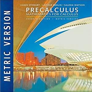 Precalculus Mathematics For Calculus International Metric
