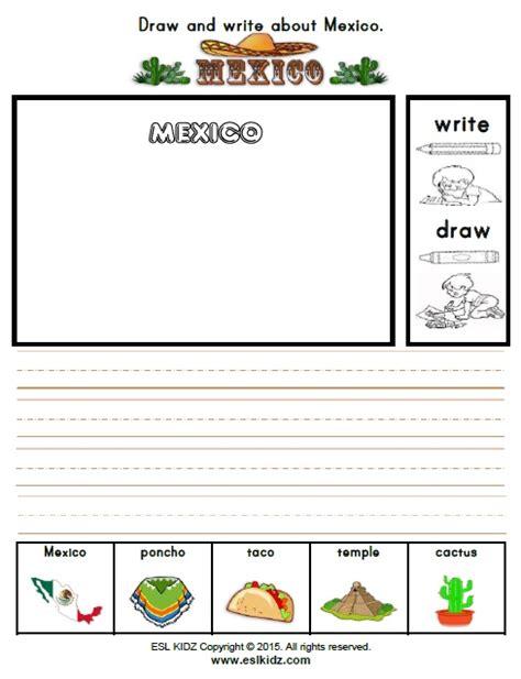 in mexico worksheets for kindergarten kidz