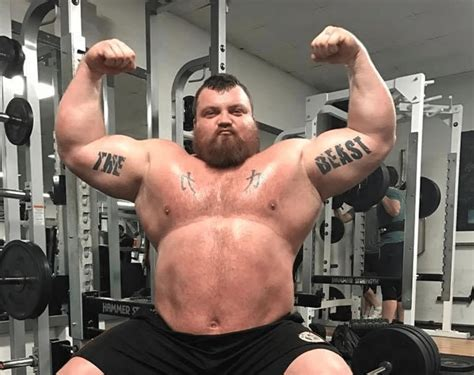 eddie hall strongman shaw brian weight beast strongest steroids diet height does biceps olympic barbend fat weightlifter he record power
