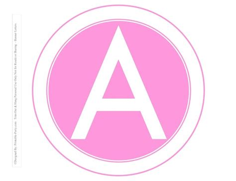 white pink circle printable banner letters