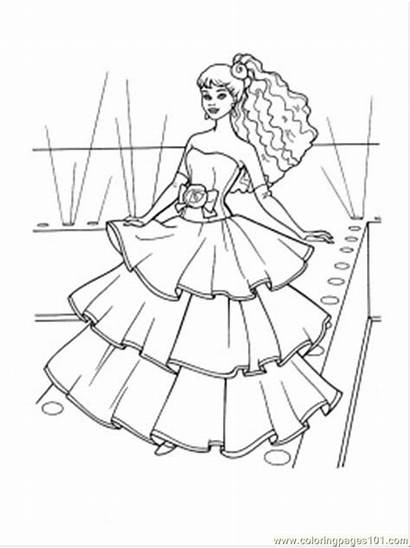 Coloring Pages Dresses Printable Clothing Flamenco Pretty