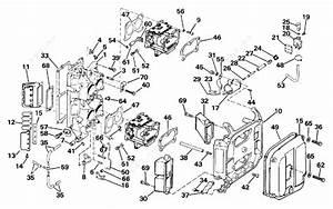 Evinrude 1989 110 - Te110tlesf  Intake Manifold