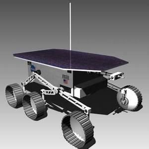 3d model lunar rover concept