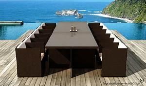 salon de jardin 12 places encastrables chocolat With exceptional amenagement de terrasse exterieur 12 candy bar