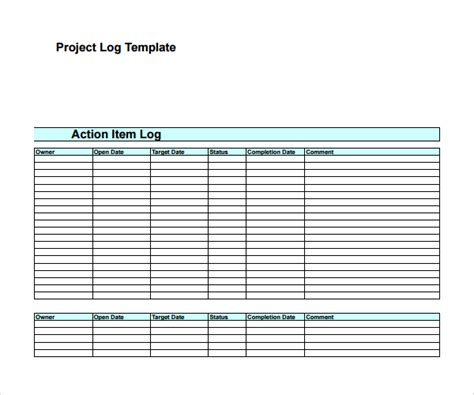 Project Log Template by 9 Log Templates To Sle Templates