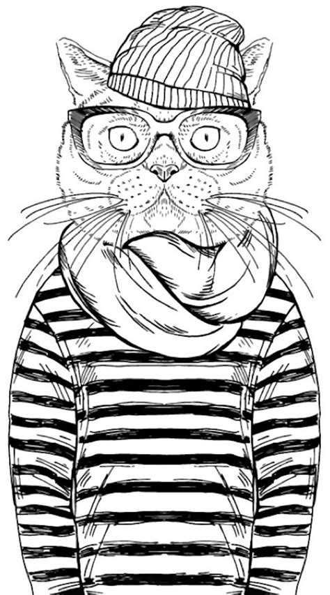 cool coloring pages cool cat coloring page from cleverpedia