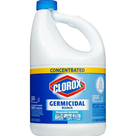 Storage Ideas For Kitchen - clorox 121 oz concentrated germicidal bleach 4460030798 the home depot