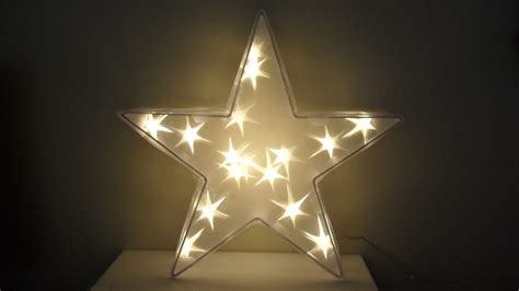 light up christmas star christmas lights card and decore