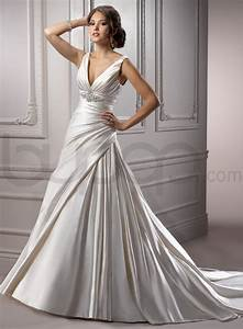 a line wedding dresses archives stylish wedding dresses With wedding dresses v neck
