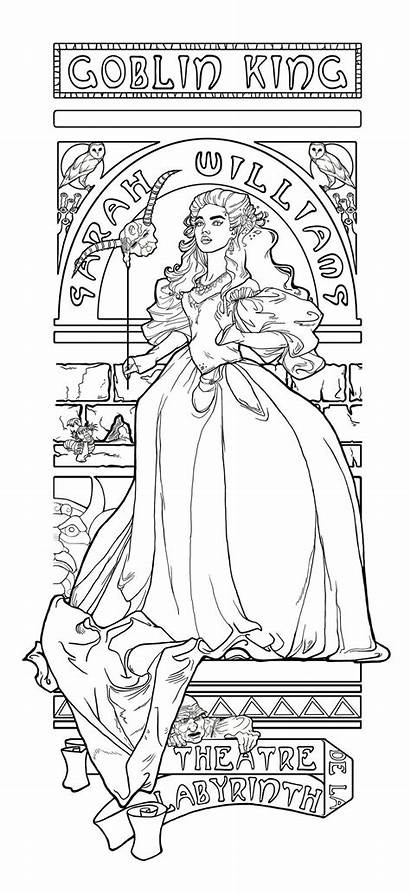Coloring Pages Labyrinth Adult Theatre Printable Colouring