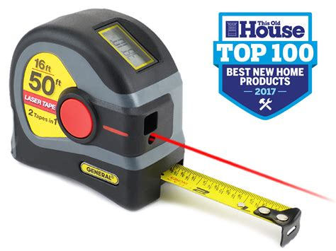 Home Design Game Tape Measure : 2-in-1 50 Foot Laser Tape Measure With Digital Display