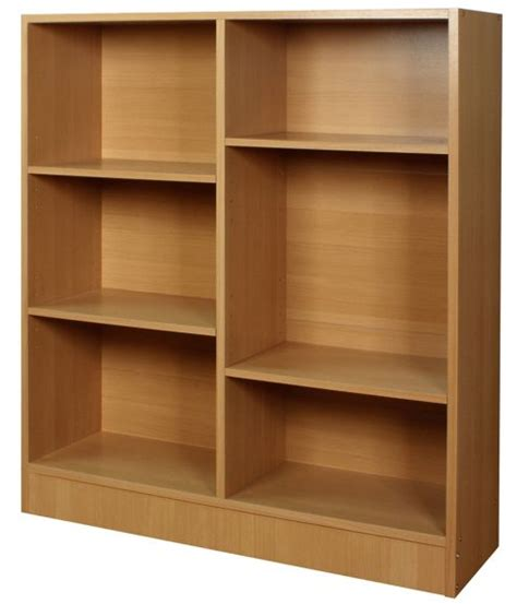 Buy Grid  Six Grid Bookshelf  Storage Shelves Pine