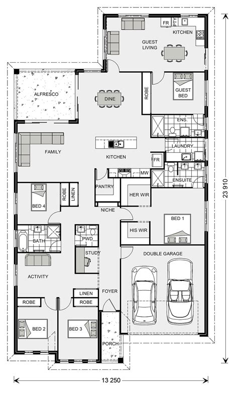 5 Bedroom House Plans Australia by Gj Gardner Single Story House With Attached Flat