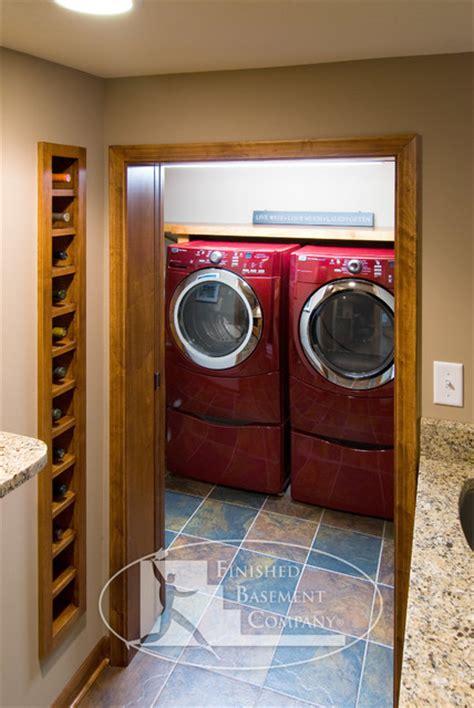 basement laundry room contemporary laundry room